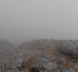 Hiking in the fog - easy way to get lost!