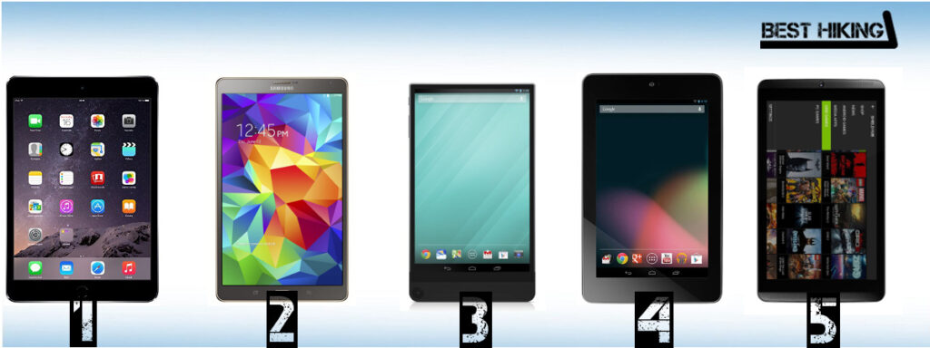 Best Tablets For Backpacking and Hiking
