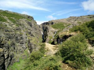 Glymur Waterfall Trail - Going up