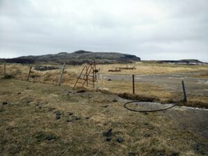 Reykjafell - Stairs over a barbed wire fence