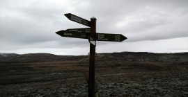Reykjafell – The directions sign