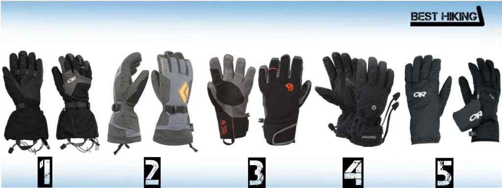 Best Gloves for Hiking and Mountaineering