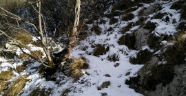 Gradiska Tura Trail – Melted snow higher up