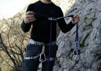 Find the attachment loop on via ferrata set