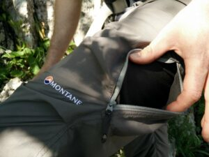 Montane Terra Pack - Thigh Pocket for Venting