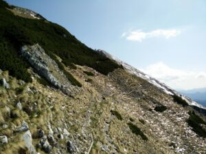 Begunjscica Trail - The trail runs along the ridge