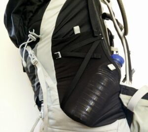 Side pockets are convenient for storing water bottles