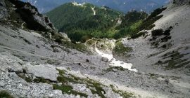 Cima del Cacciatore – The scree was rather steep
