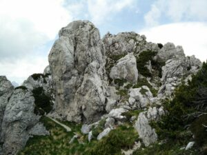 Cima del Cacciatore - Traversing the ridge towards west