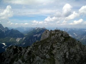 Cima del Cacciatore - The Summit is seen while traversing the ridge