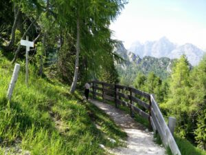 Cima del Cacciatore – Path in the beginning