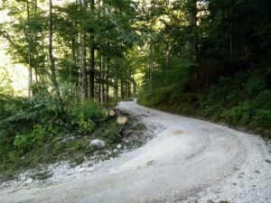 Skuta Trail - Wide dirt track at the beginning