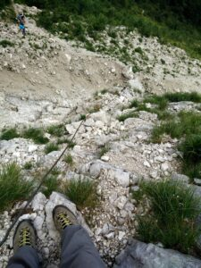 Krn Trail - At the beginning of via ferrata