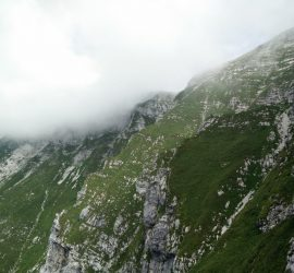 Krn Trail - While climbing you are surrounded by steep slopes