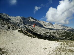 Triglav Trail - Crossroad on the second plateau