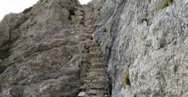 Triglav Trail – Stairs after Vodnikov Dom