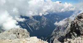 Triglav Trail – View on the valley beneath