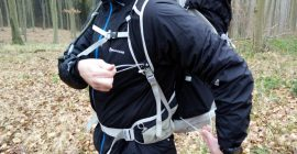 Image 6: Trekking Pole Attachment System