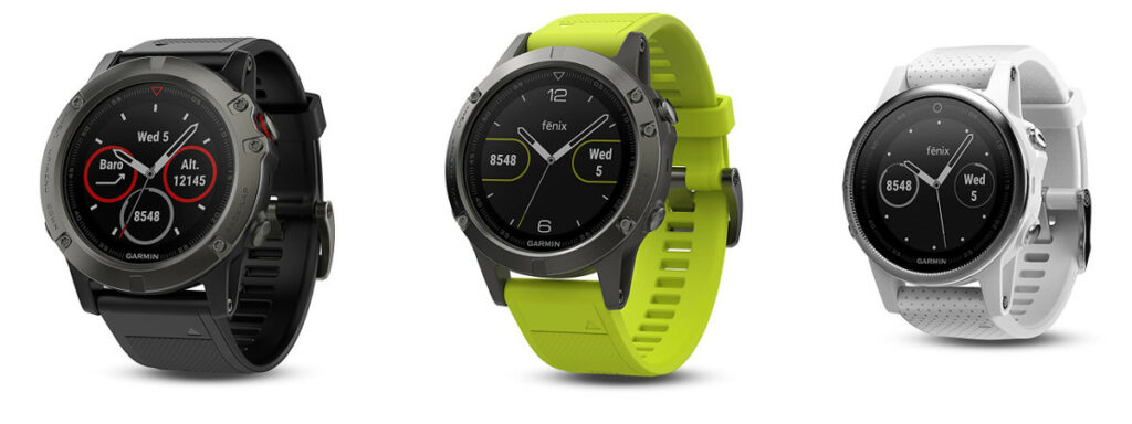 Garmin Fenix 5 Collection - Garmin Fenix 5X, Garmin Fenix 5 and Garmin Fenix 5S