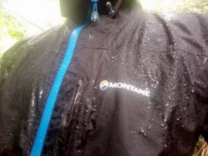 Montane Minimus Jacket - Testing in heavy rain