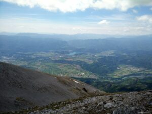 Stol Hochstuhl Trail - View on lake Bled