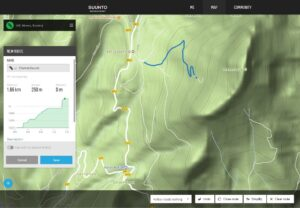 Creating GPS Tracks in Suunto Movescount Web App