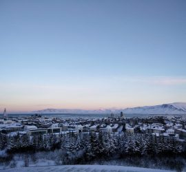 What to wear in Iceland - View on Reykjavik in November