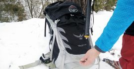 Put the shaft through the ice axe loop