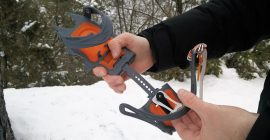 Adjust the length of the crampons