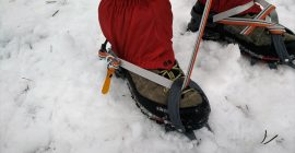 How to put on crampons 2