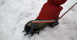 How to put on crampons 3