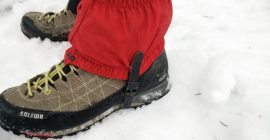 How to put on gaiters 5
