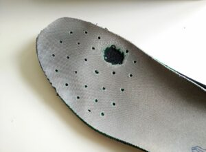 Lowa Innox GTX - Insole shows signs of wear