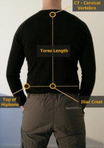 How to fit a backpack - Measure your torso length