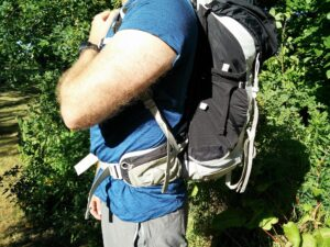 How to fit a backpack - The hipbelt should be centered over your hipbones