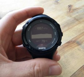 How to use barometer on a Suunto watch