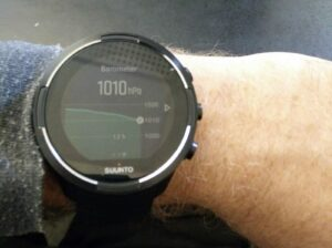 Suunto Watch Barometer - Weather is deteriorating (Suunto 9)