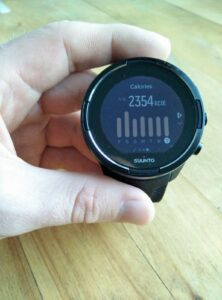 Suunto 9 Baro - Calorie consumption in the last seven days