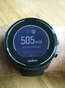 Suunto 9 Baro - Daily calorie consumption