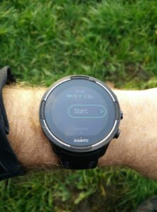 Suunto 9 Baro - Exercise mode - see remaining battery life