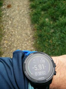 Suunto 9 Baro - Running mode first display