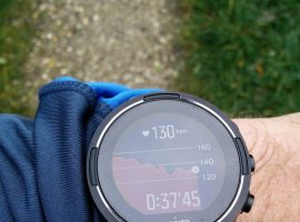 Suunto 9 Baro – Running mode heart rate graph