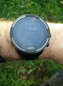 Suunto 9 Baro - Weekly duration of workouts