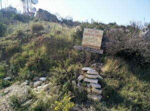 Skopos Trail – Directions sign