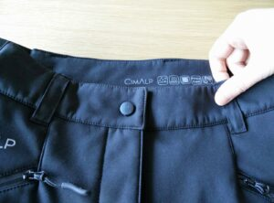CimAlp Quebec Softshell Pants - Belt loops