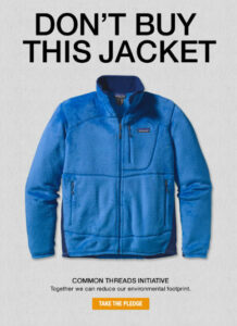 "Patagonia's ""Don't Buy This Jacket"" ad"