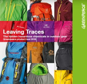 Cover of Greenpeace's 2016 Report on PFCs in Outdoor Clothing and Gear