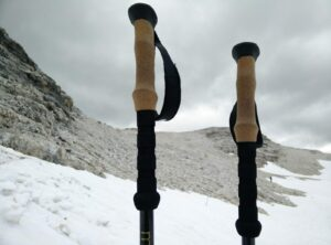 Montem 3K Carbon Trekking Poles - Snow in the Dolomites