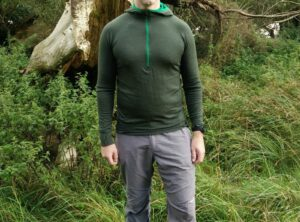 Isobaa Merino Zip Neck Hoodie - On a trail