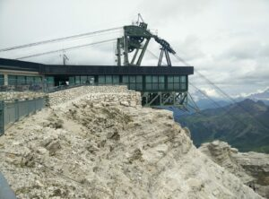 Sass Pordoi - The cable car station and restaurant at the top